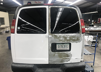 Van before wrapping