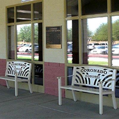 Coronado Elementary School Custom Benches